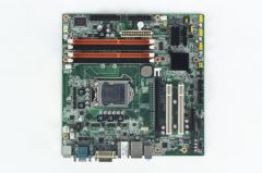 Advantech Intel Core i7/i5/i3/Pentium/Xeon LGA1156 mATX with CRT/DVI, 4 COM