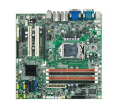 Advantech LGA1155 mATX Q77/VGA/DVI/DP/LVDS or eDP/1*PCIe x 16/ 2* PCI/ 1* PCIx4 /