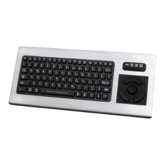 iKey Backlit Keyboard with Integrated HulaPoint II Stainless Steel Case