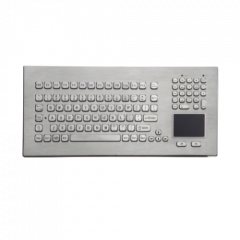 iKey Stainless Steel Keyboard with Touchpad DT-102-SS