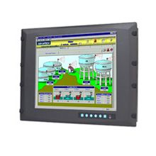 "Advantech 17"" SXGA Industrial Monitor with Resistive Touchscreen, Direct-VGA and DVI Ports"
