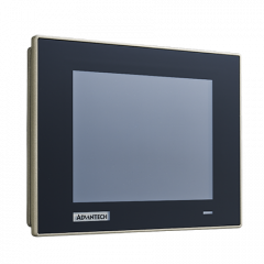 "Advantech 6.5"" VGA Industrial Monitor with Resistive Touchscreen, Direct-VGA/DP and Wide Operating T"