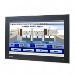 "Advantech 18.5"" Industrial Monitor with Projected Capacitive Touchscreen, Direct-VGA and DVI Ports"