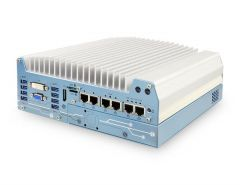 Neousys Intel 8th-Gen Core i Fanless Controller with 6x GbE Ports and PCIe Slot
