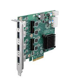 PCE-USB Series PCI Express x4, 4/8-Port USB 3.0 Expansion Card